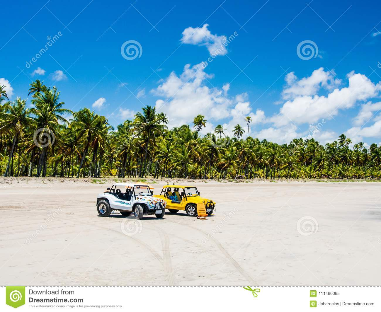 7c6f7955dce9 Buggies With Beach View On A Summer Day During Low Tide Stock Image ...