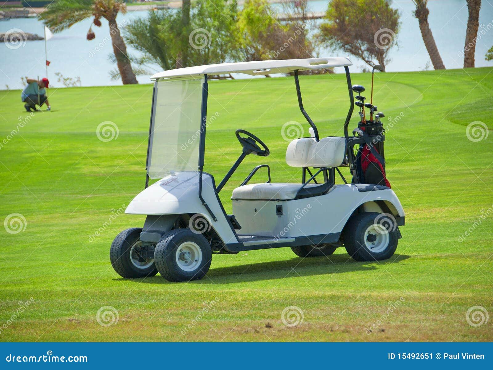 Buggy do golfe em um fairway