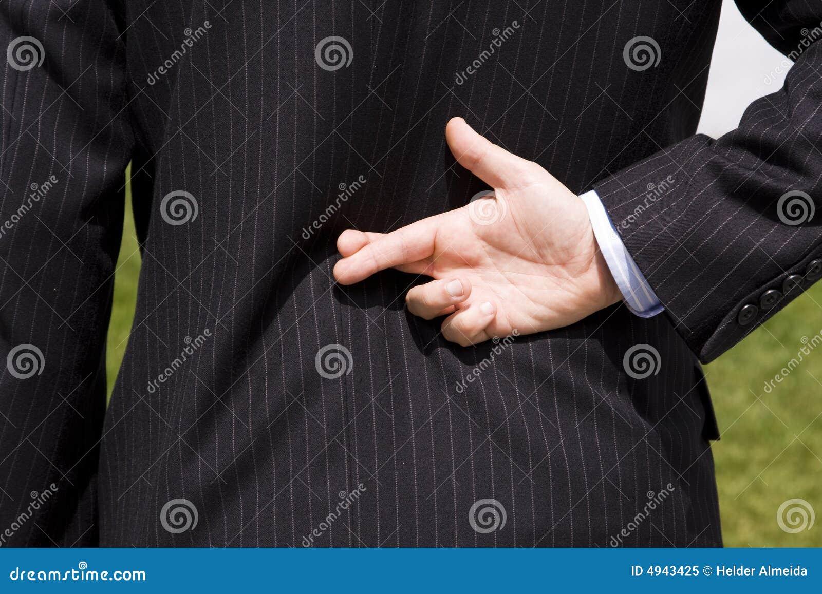 Bugia dell uomo d affari