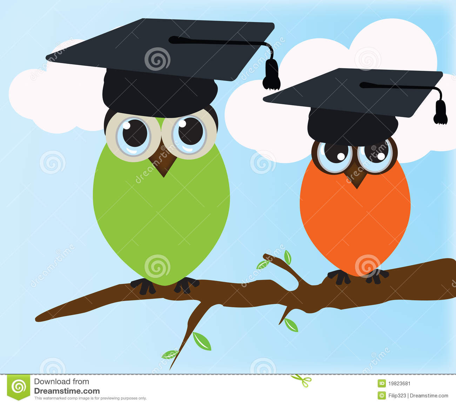 Buho de graduación ilustración del vector. Ilustración de diploma ...