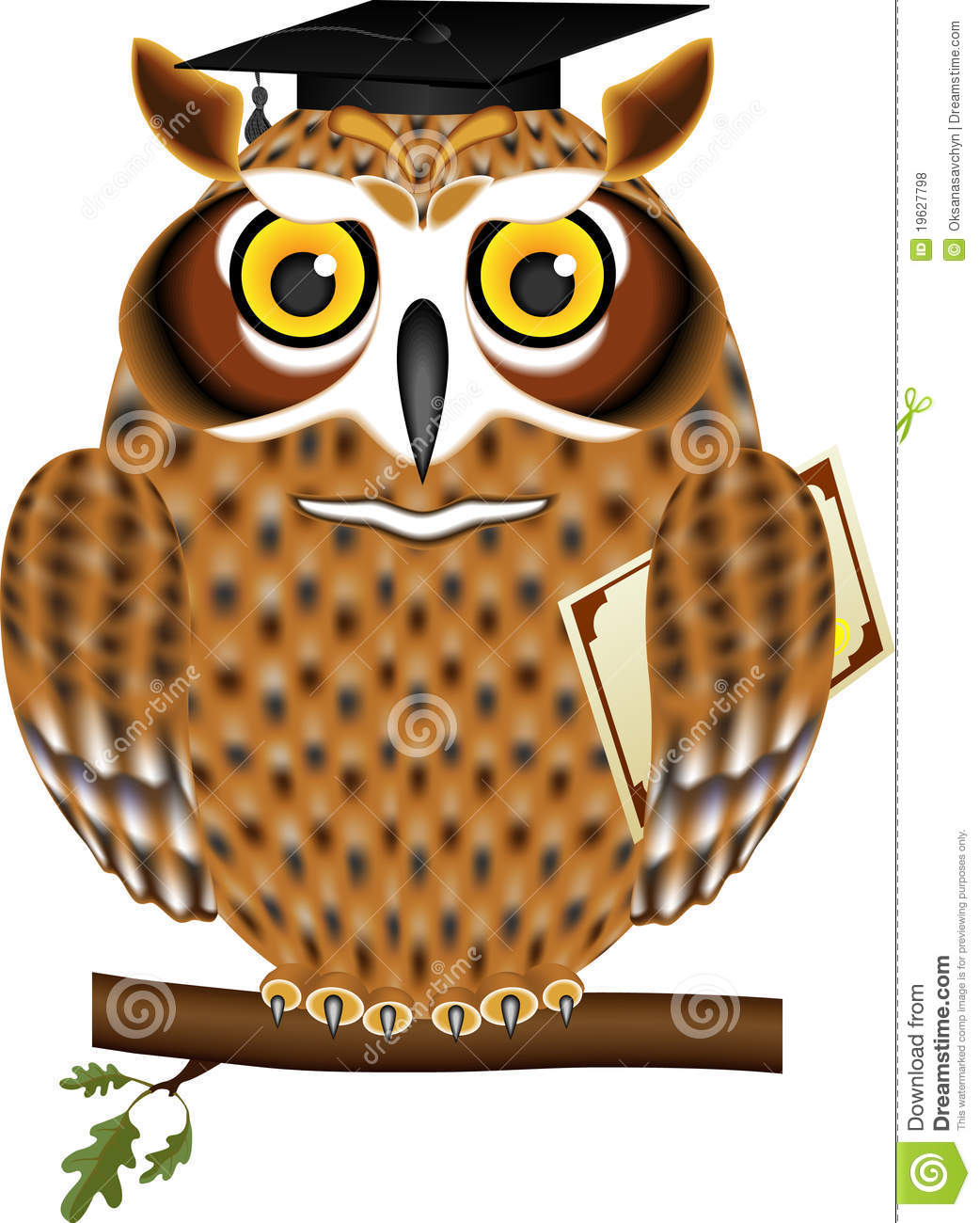 Owl with Mortar Board