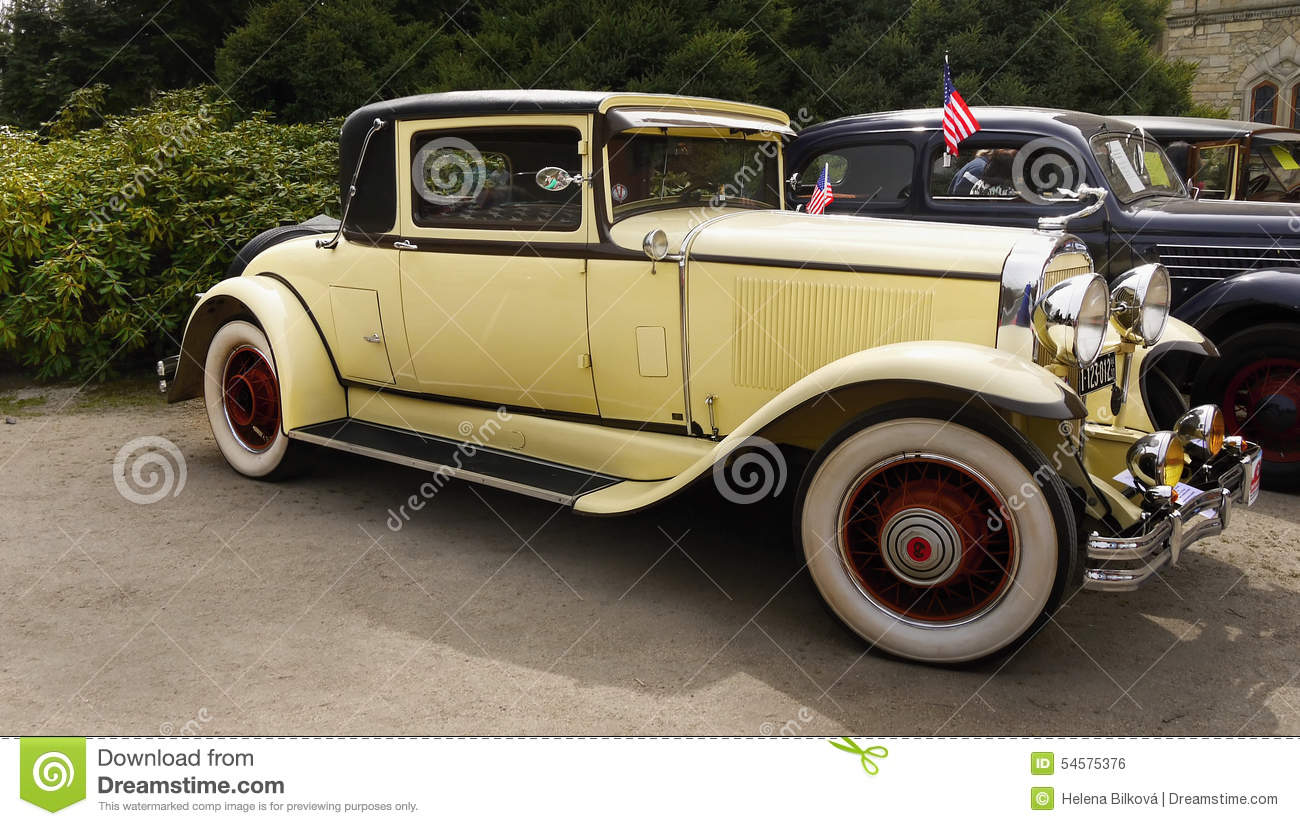 Vintage american classic car buick coupe 1929 editorial for American classic motor cars