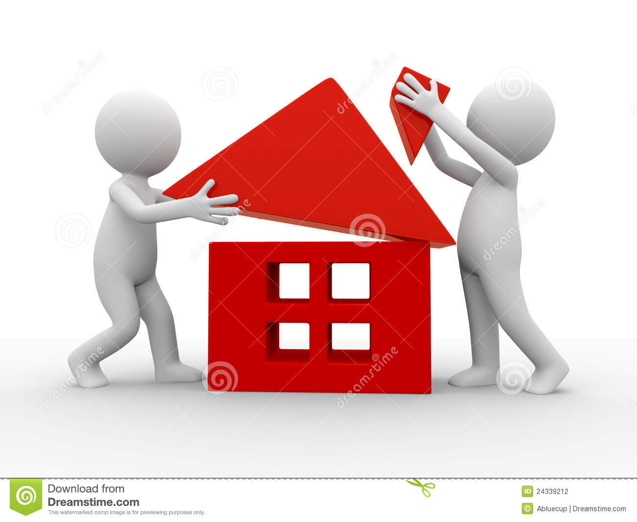 Build a house stock photography image 24339212 for How to go about building a house