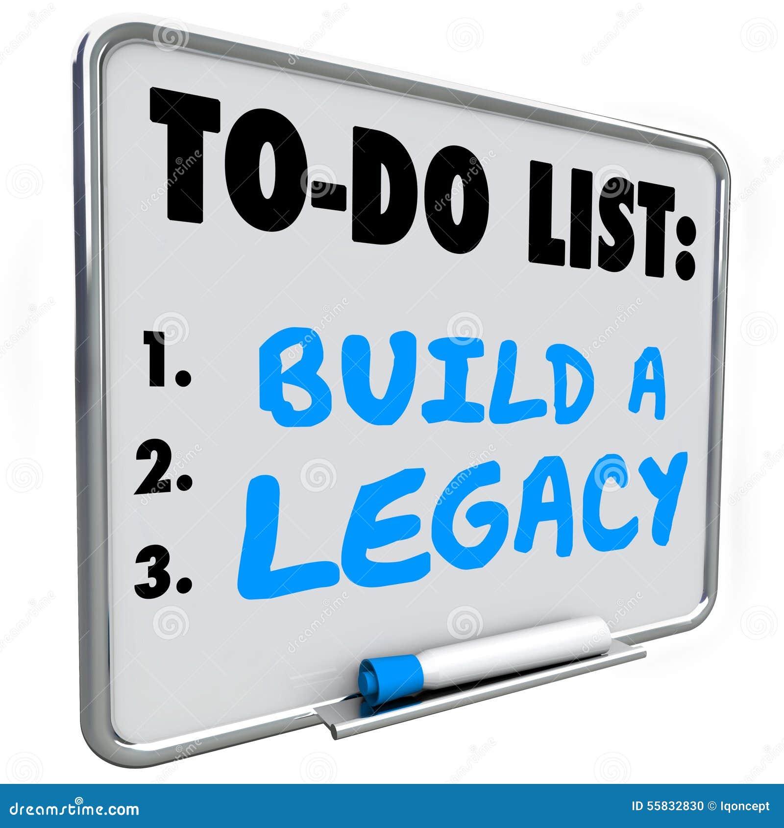 Build a Legacy Leave Lasting Impression Future History Message B