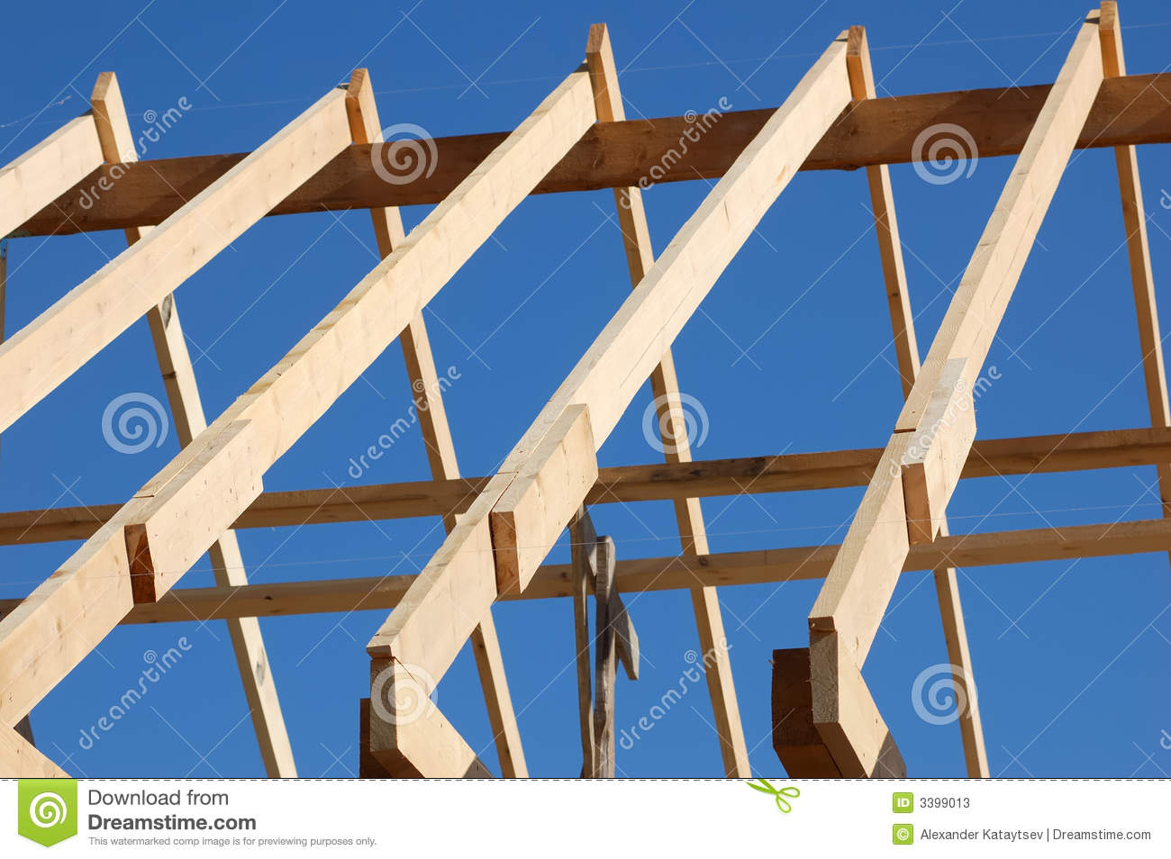 Build The Roof Stock Photos - Image: 3399013