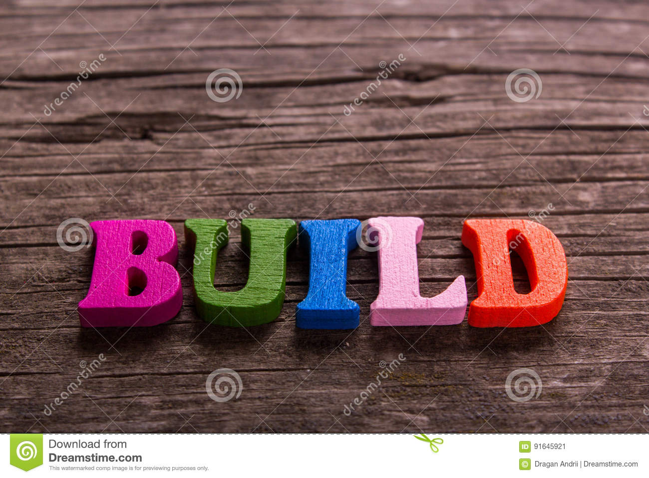 build word made of wooden letters stock image image of equipment