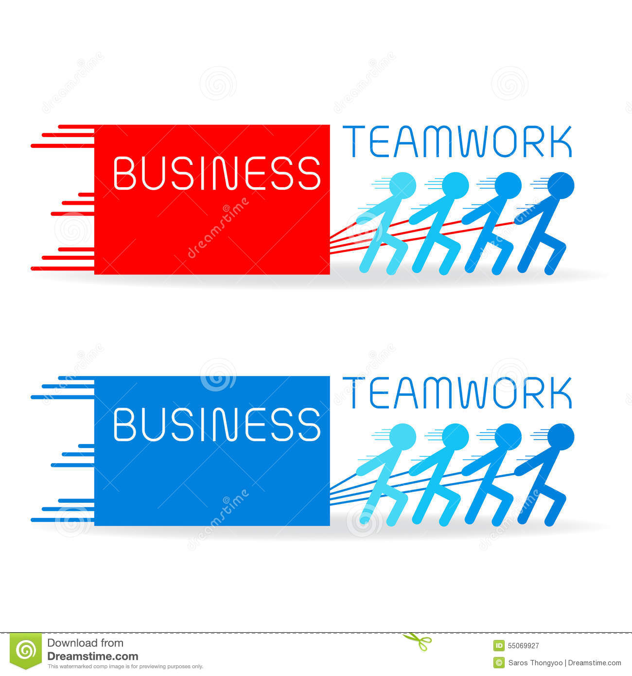 Build Your Business With Strong Teamwork Stock Vector Illustration