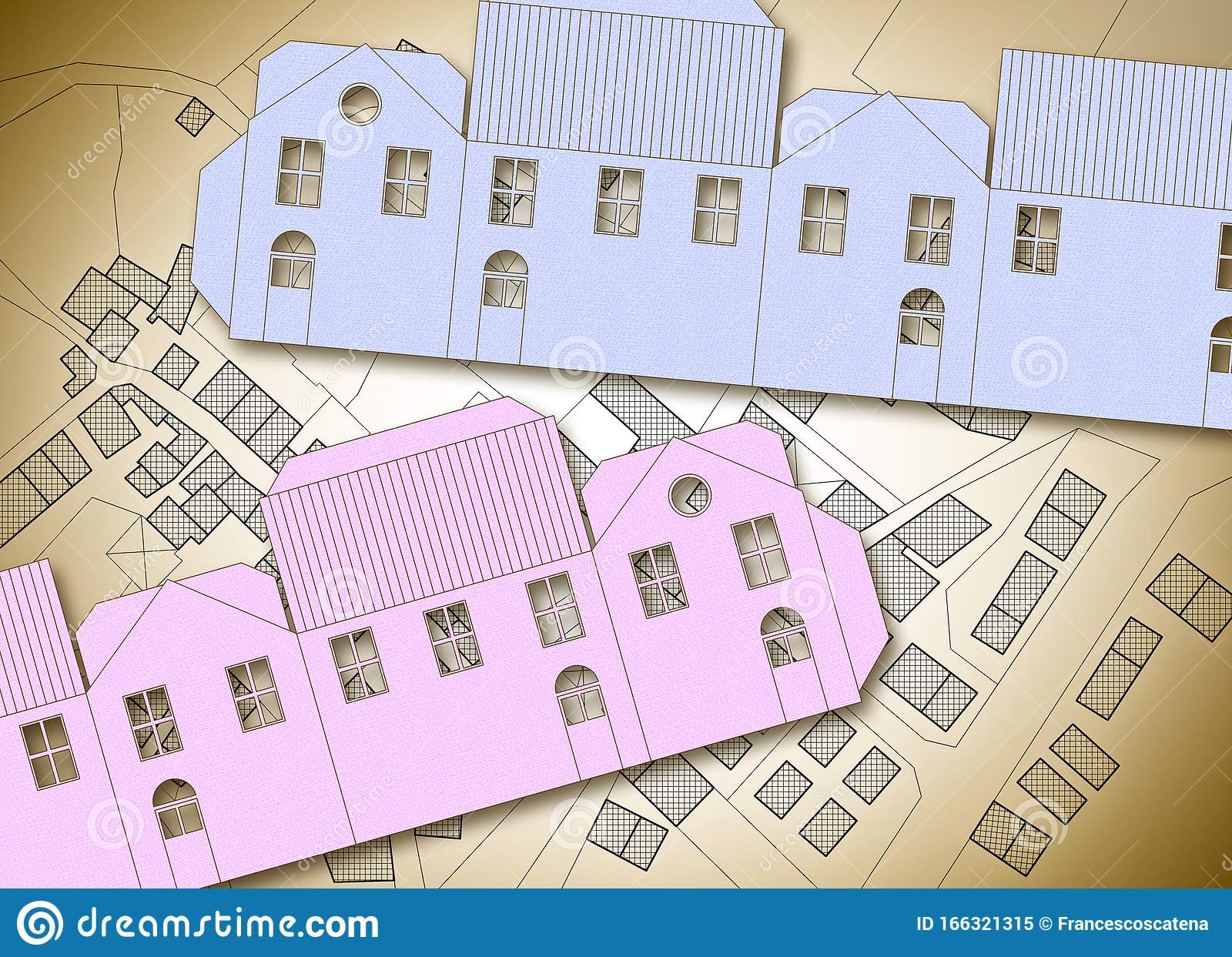 Build Your Own Home Concept Image With An Origami Paper House Against A City Map Stock Image Image Of Cartography Chart 166321315
