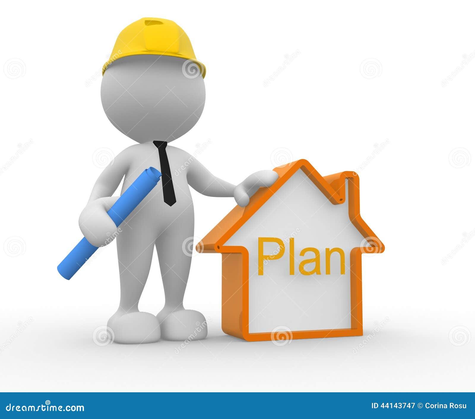 Builder stock illustration image 44143747 for 3d setup builder