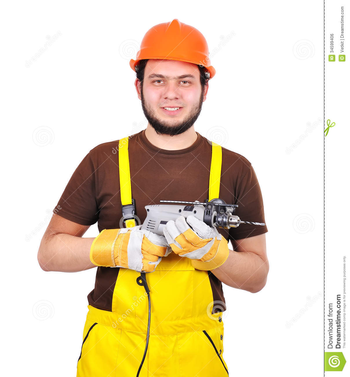 Builder with drill royalty free stock image image 34599406 Www builder