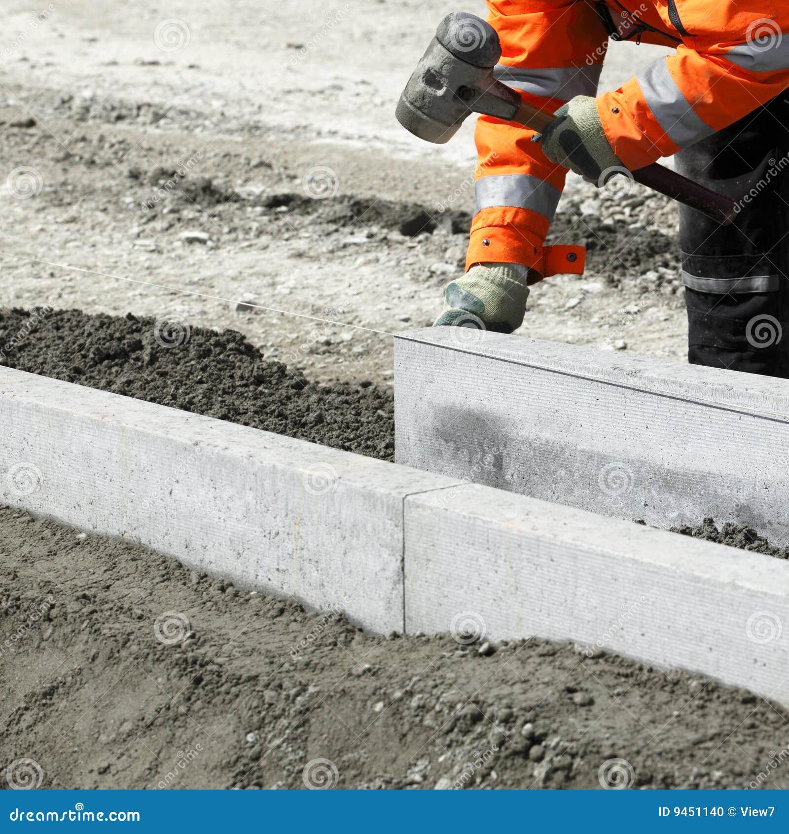 Builder Laying Bricks Stock Photo Image 9451140
