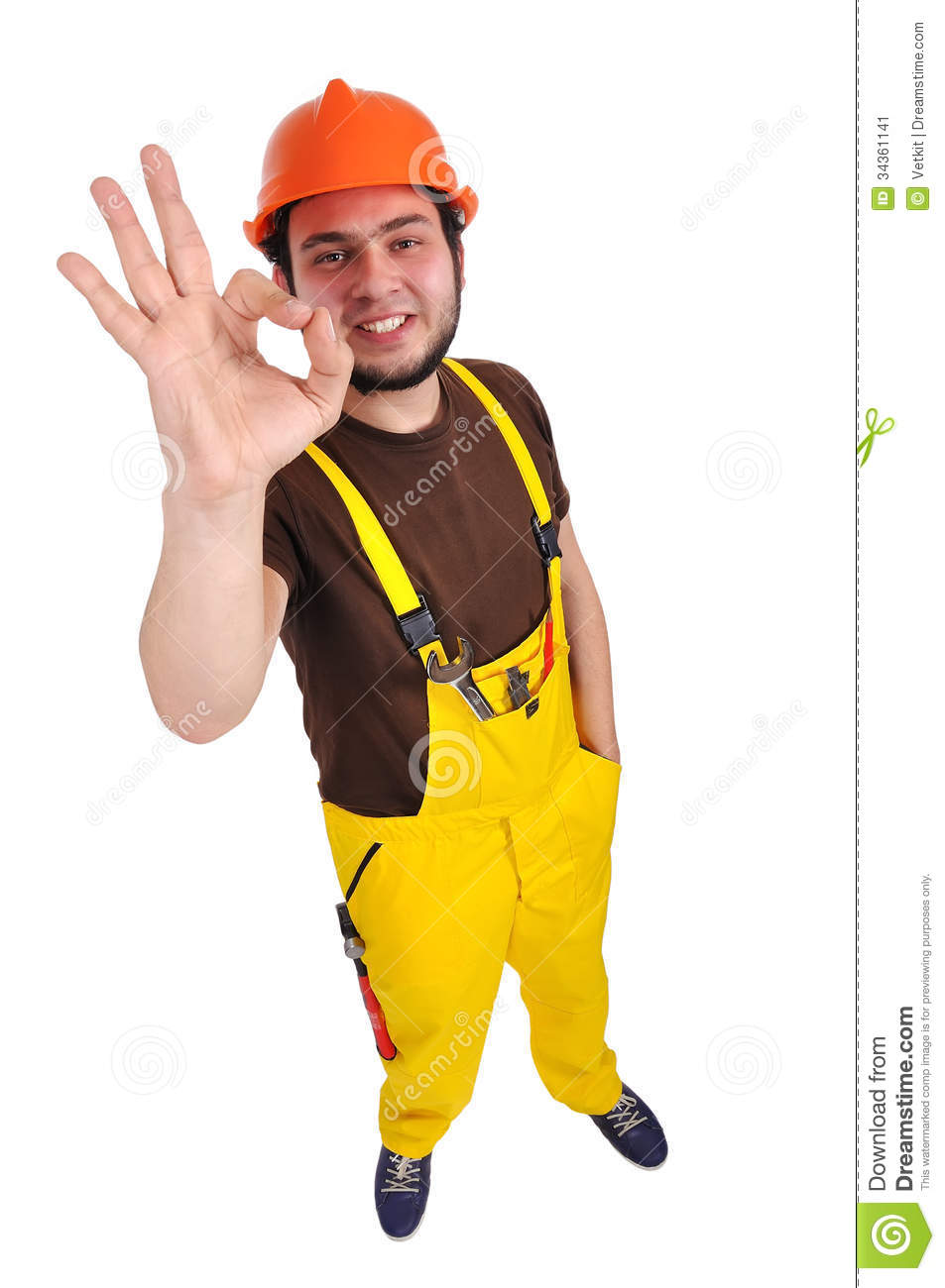 Construction Sign Clipart Builder Showing OK Sto...
