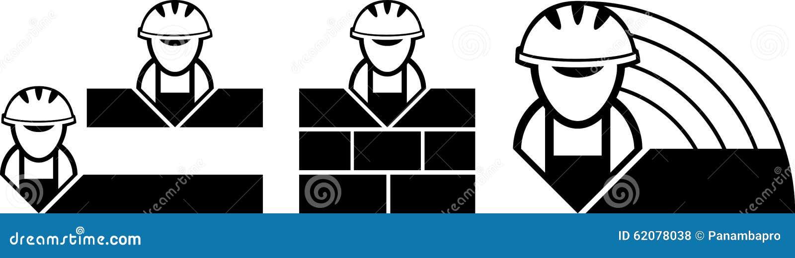 builder symbols stock vector illustration of flat industry 62078038