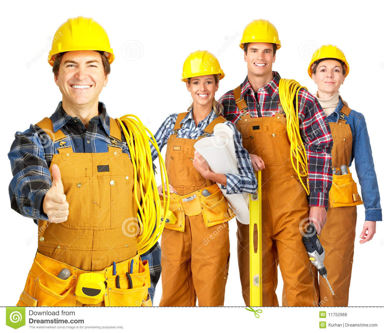 Builder Team Royalty Free Stock Photos Image 11752968
