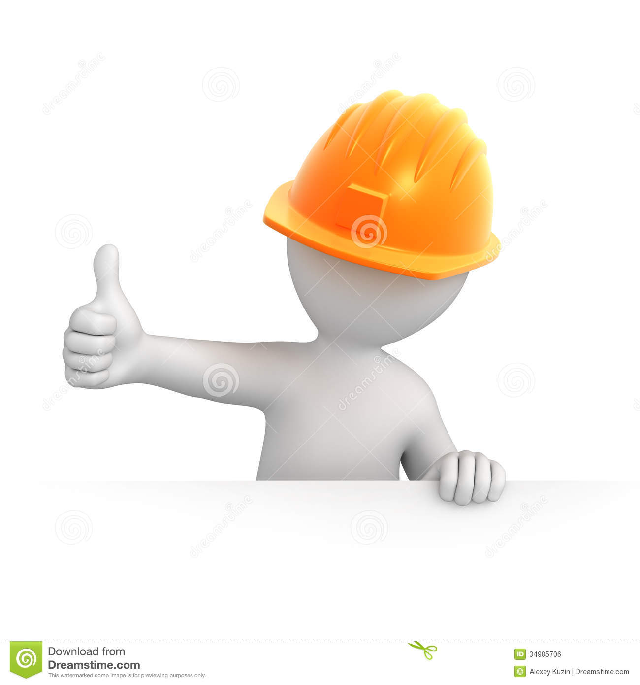 Builder with thumb up royalty free stock image image for 3d setup builder