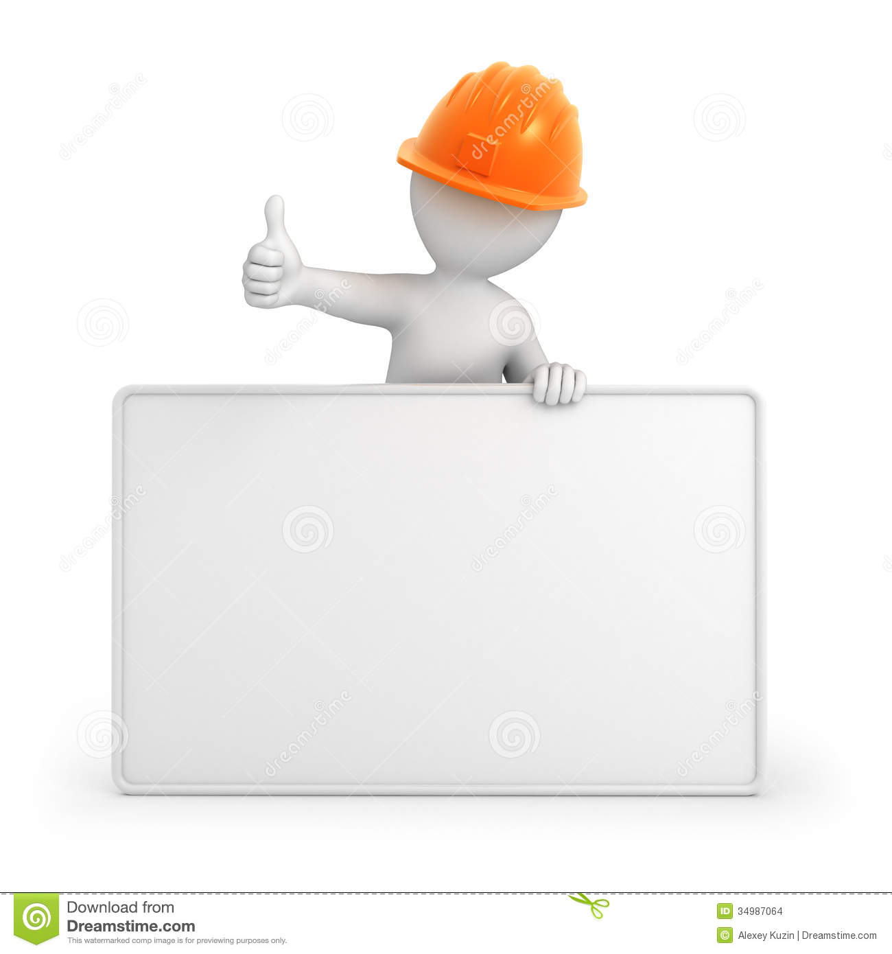 Builder with thumb up stock images image 34987064 for 3d setup builder