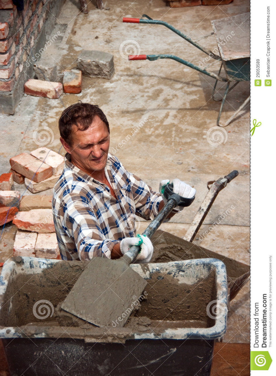 Builder working on site