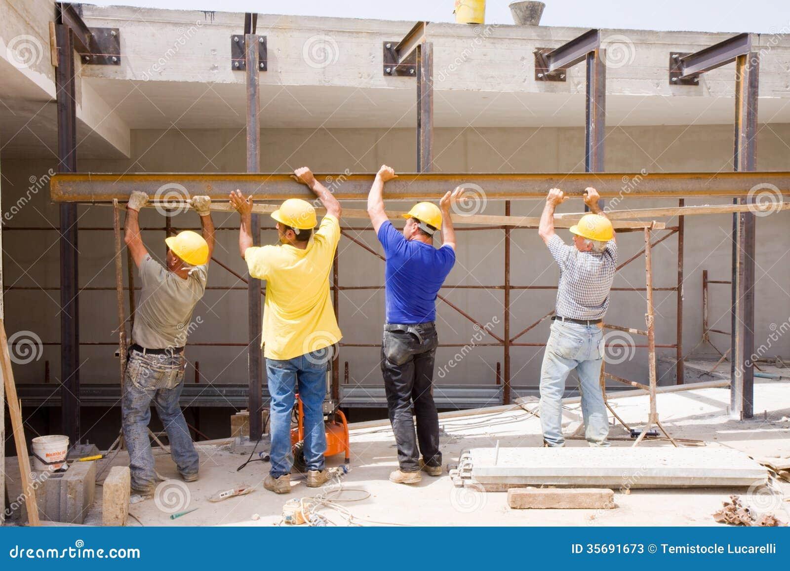House Builder Program Builders At Work Stock Photos Image 35691673