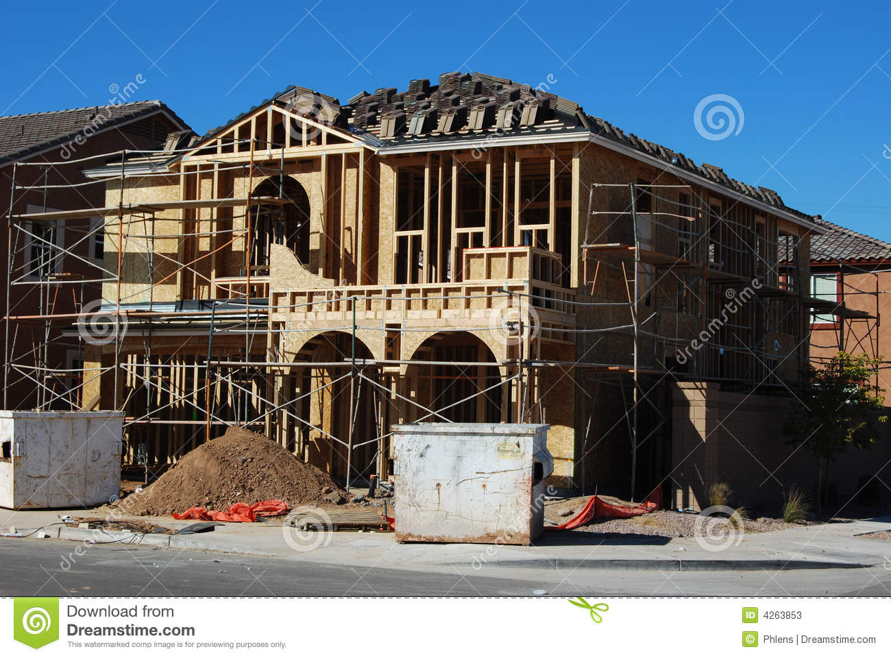 building a 2 story new home stock photos image 4263853