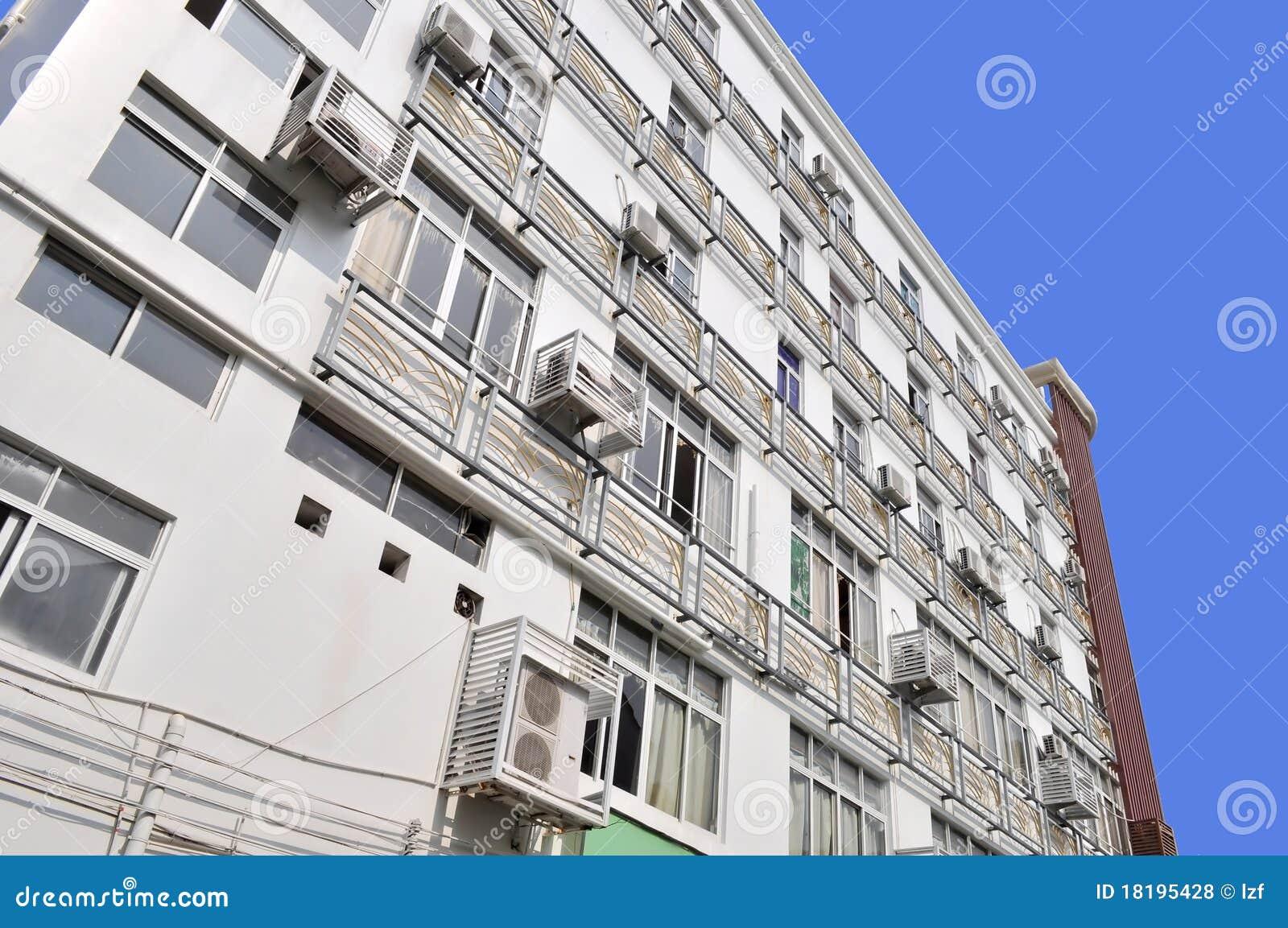 Air Conditioner Condenser >> Building air conditioning stock photo. Image of closeup ...