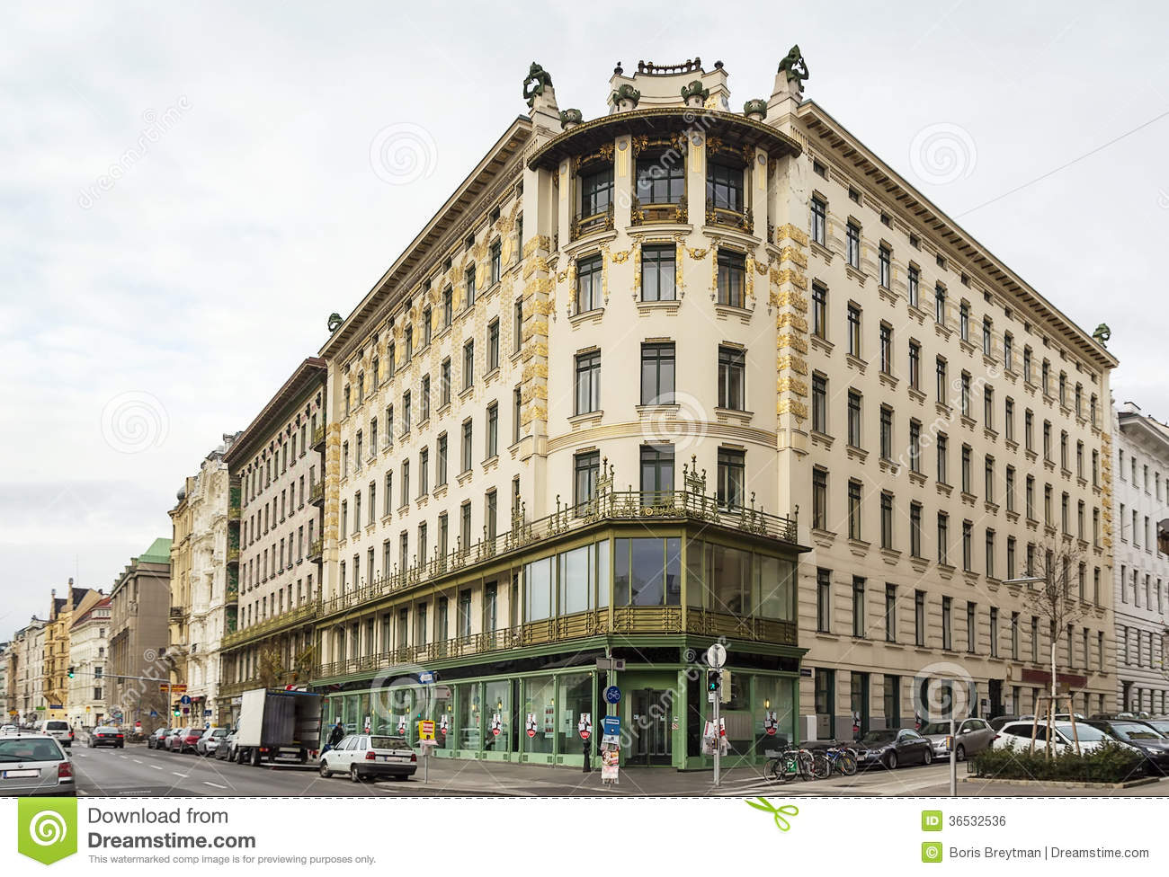 Building In Art Nouveau Style Vienna Stock Photo Image Of Modern