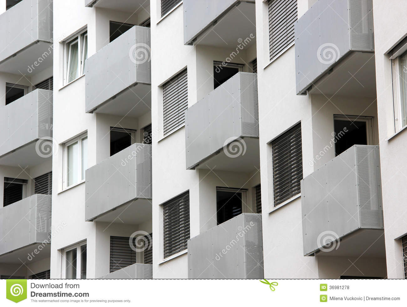 Building balconies in repetition royalty free stock photos for Architectural engineering concepts