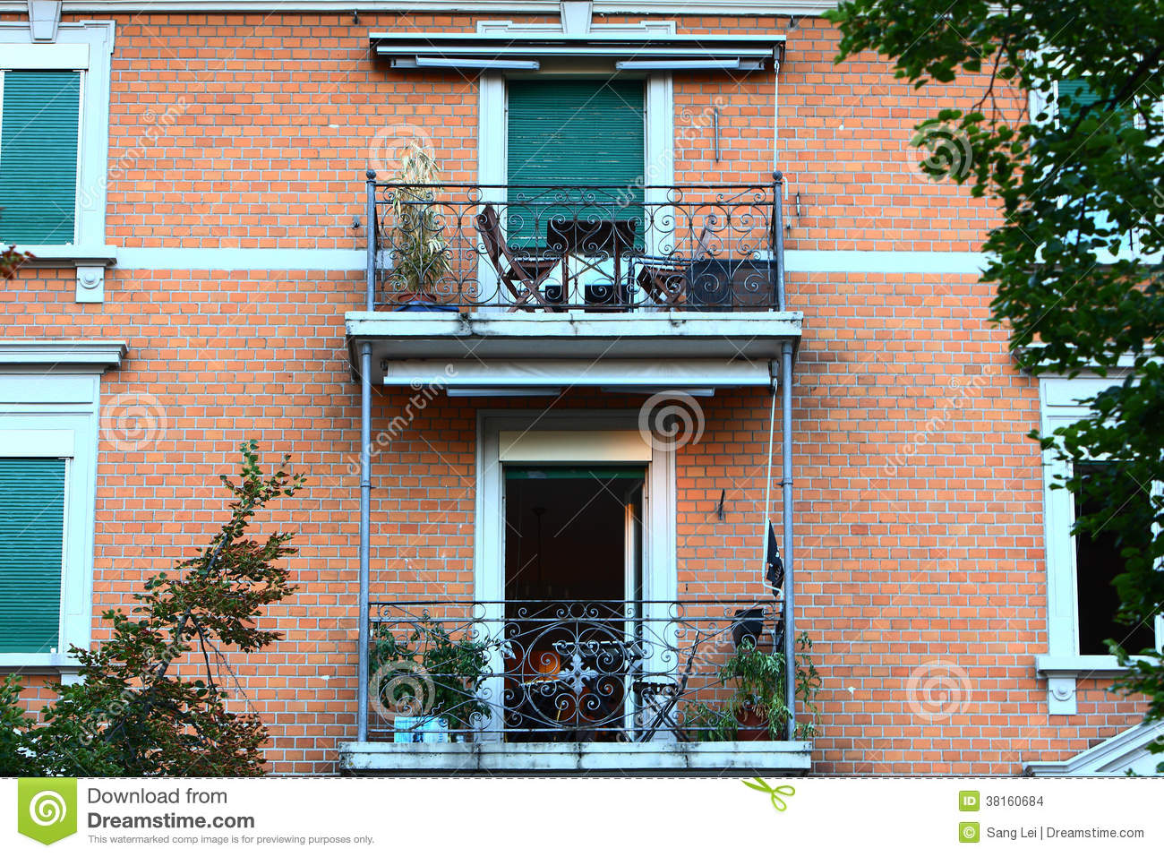 Building balcony stock images image 38160684 for Building balcony