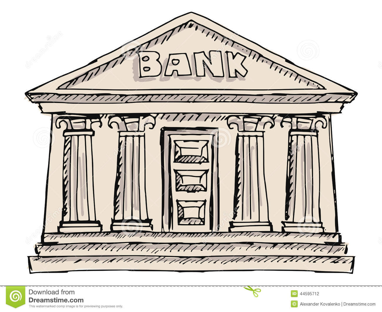 Building of bank stock...