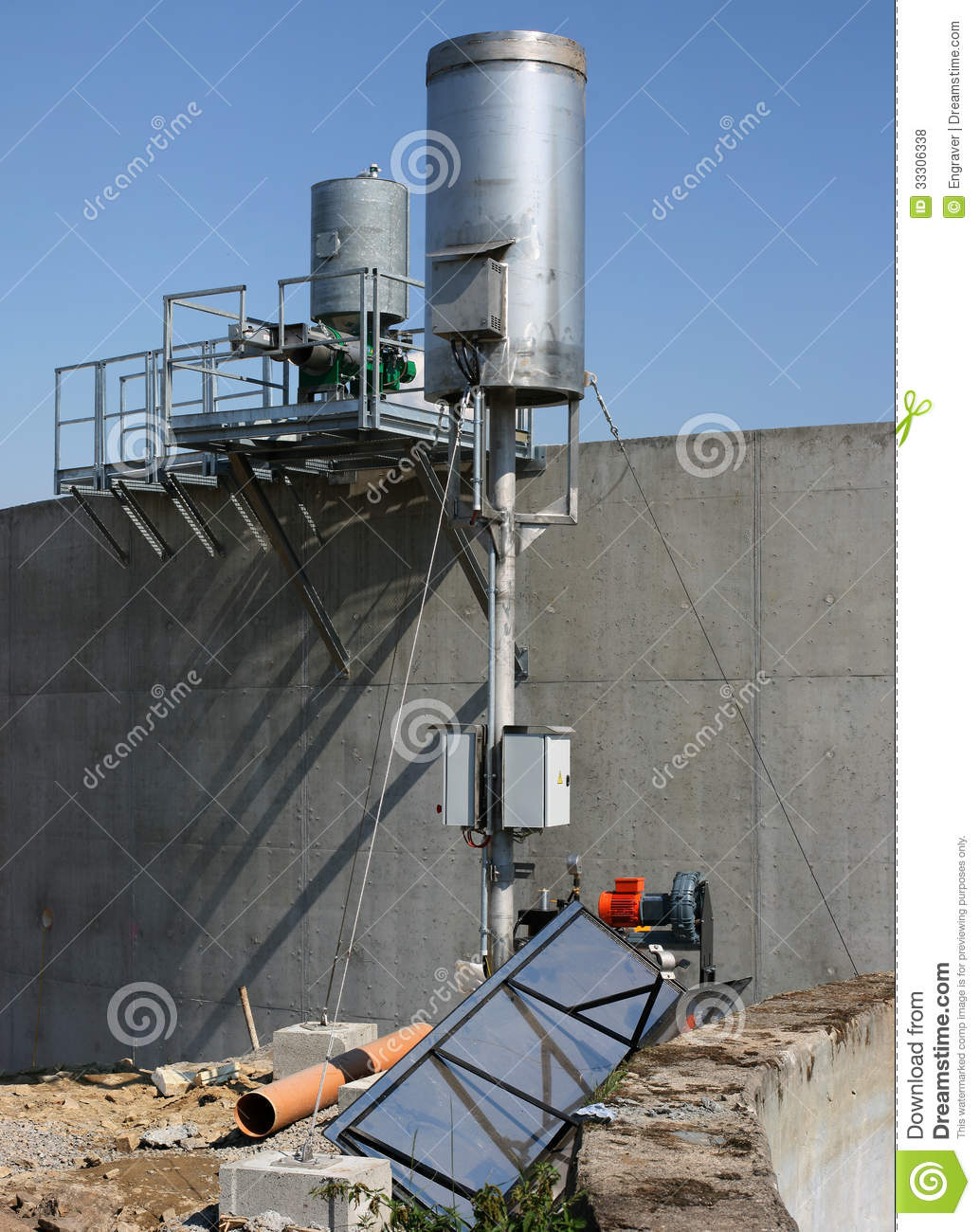 Building of bio gas plant 8 royalty free stock photos for Construction bio