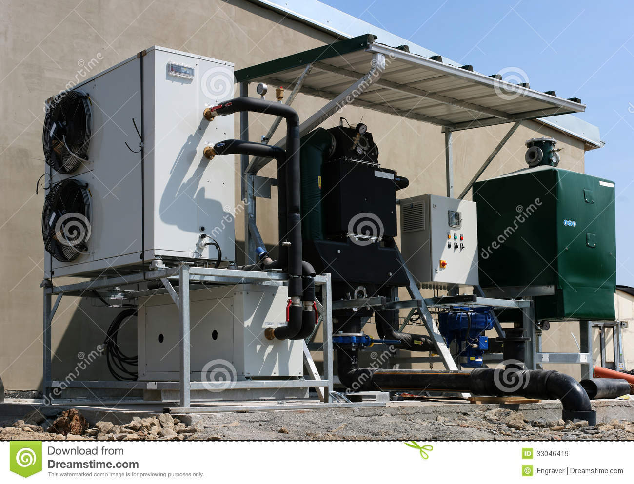 Building of bio gas plant royalty free stock images for Construction bio
