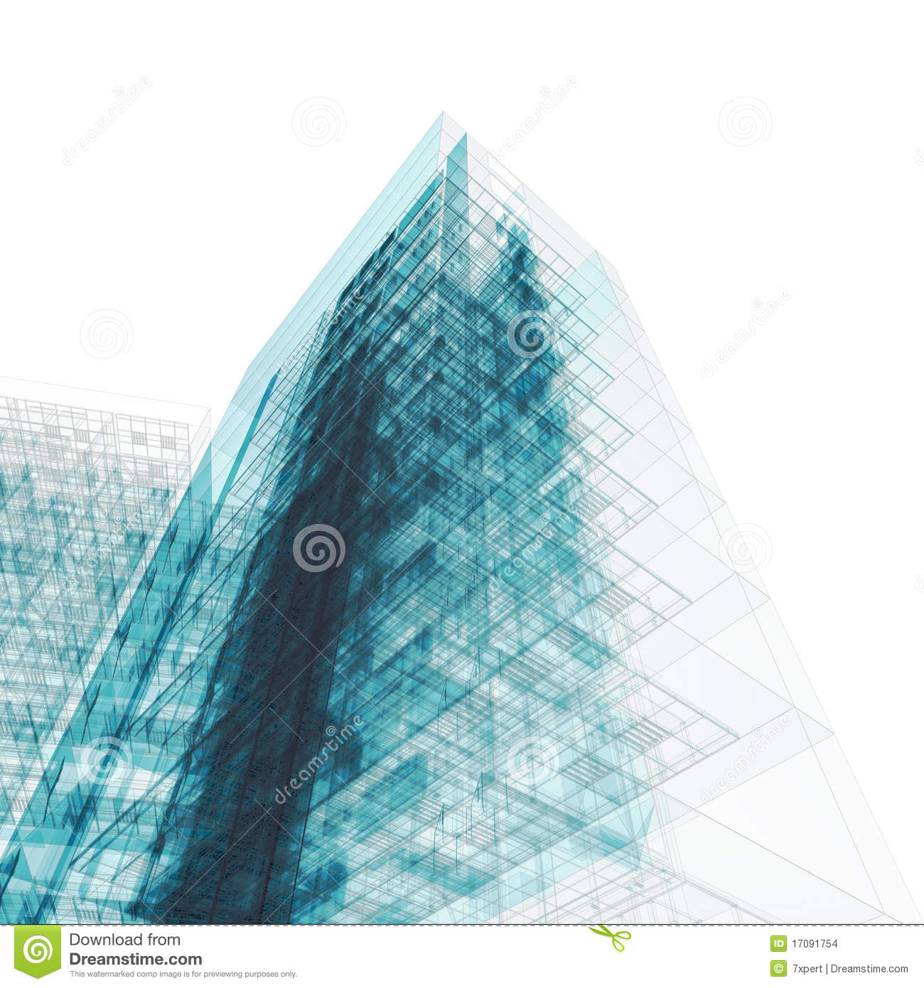 Building Blueprint On White Stock Images Image 17091754