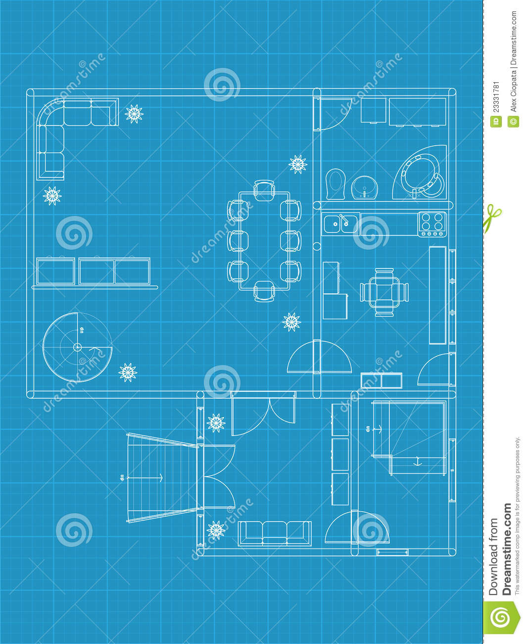 Building Blueprints Stock Vector Image Of Drawing