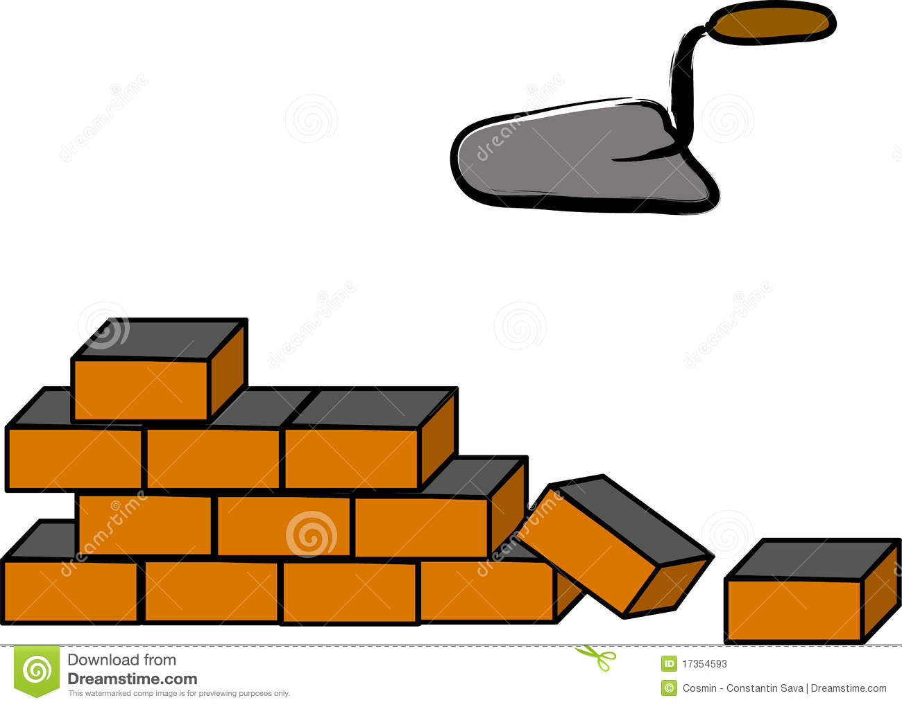 building a brick wall stock vector illustration of gloves 17354593 rh dreamstime com grey brick wall clipart grey brick wall clipart