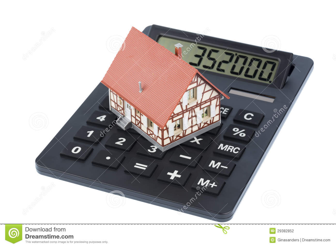 Building On Calculator Stock Photography Image 29382852