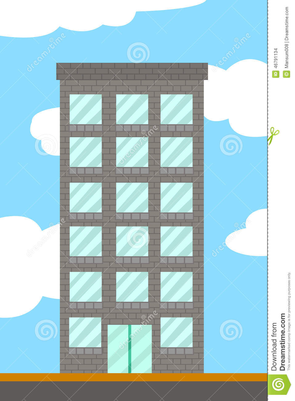 Building Cartoon Stock Illustration - Image: 46791134