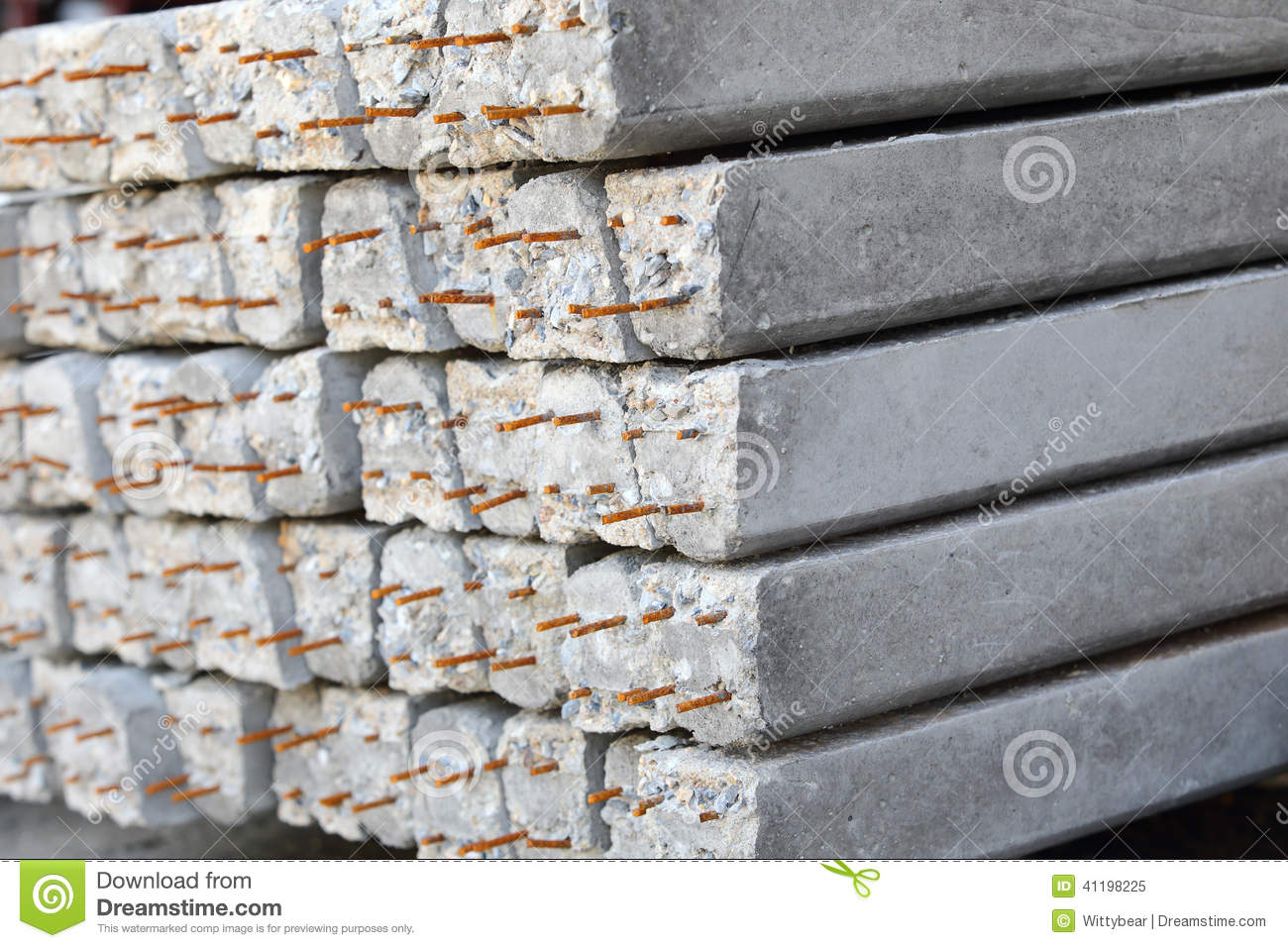Building Cement Pillar In Construction Stock Photo Image