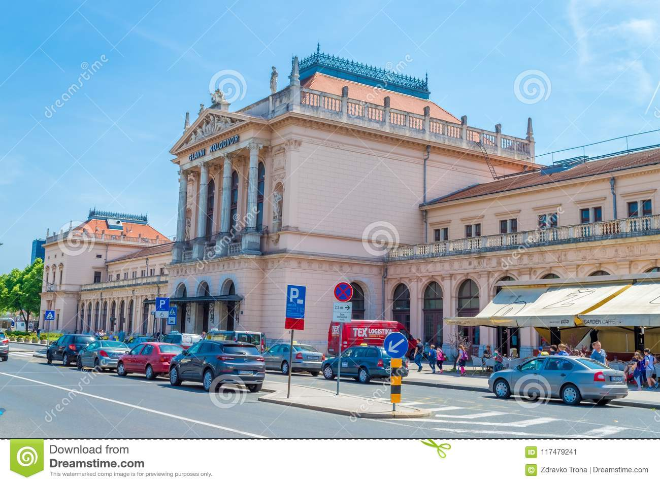 Building of Central railway station in Zagreb, Croatia