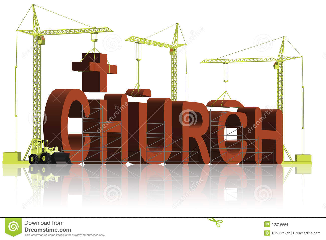 Building A Christian Church Religion Trust Stock Images ...