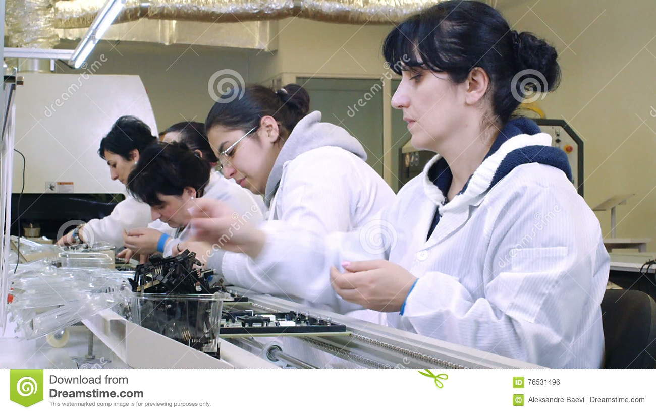 Building Circuit Boards In Electronics Factory Stock Footage Video Electronic Board Assembly Jobs Of Conductive 76531496