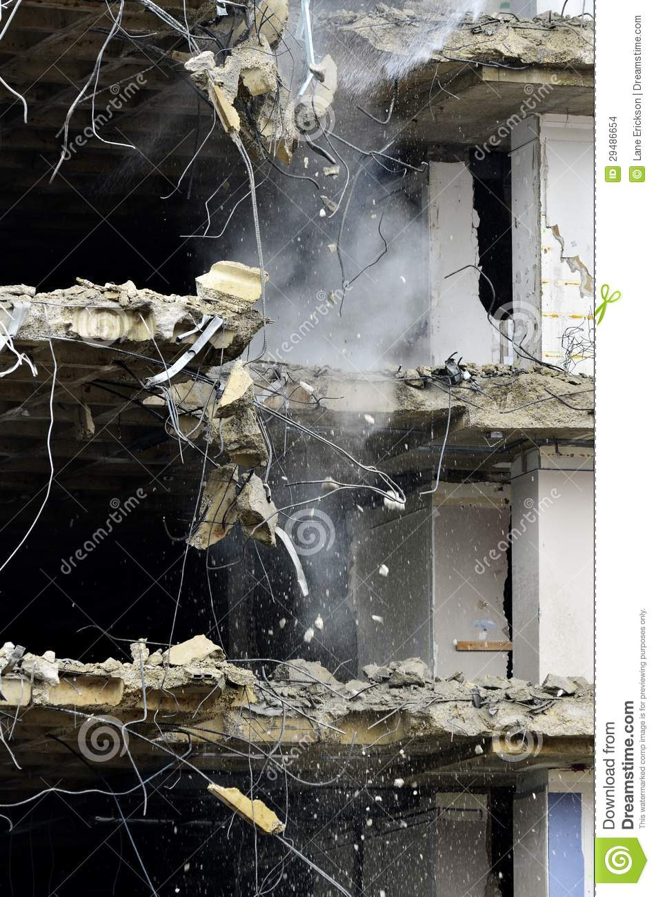 Building Falling Down : Building collapsing or falling down stock images image
