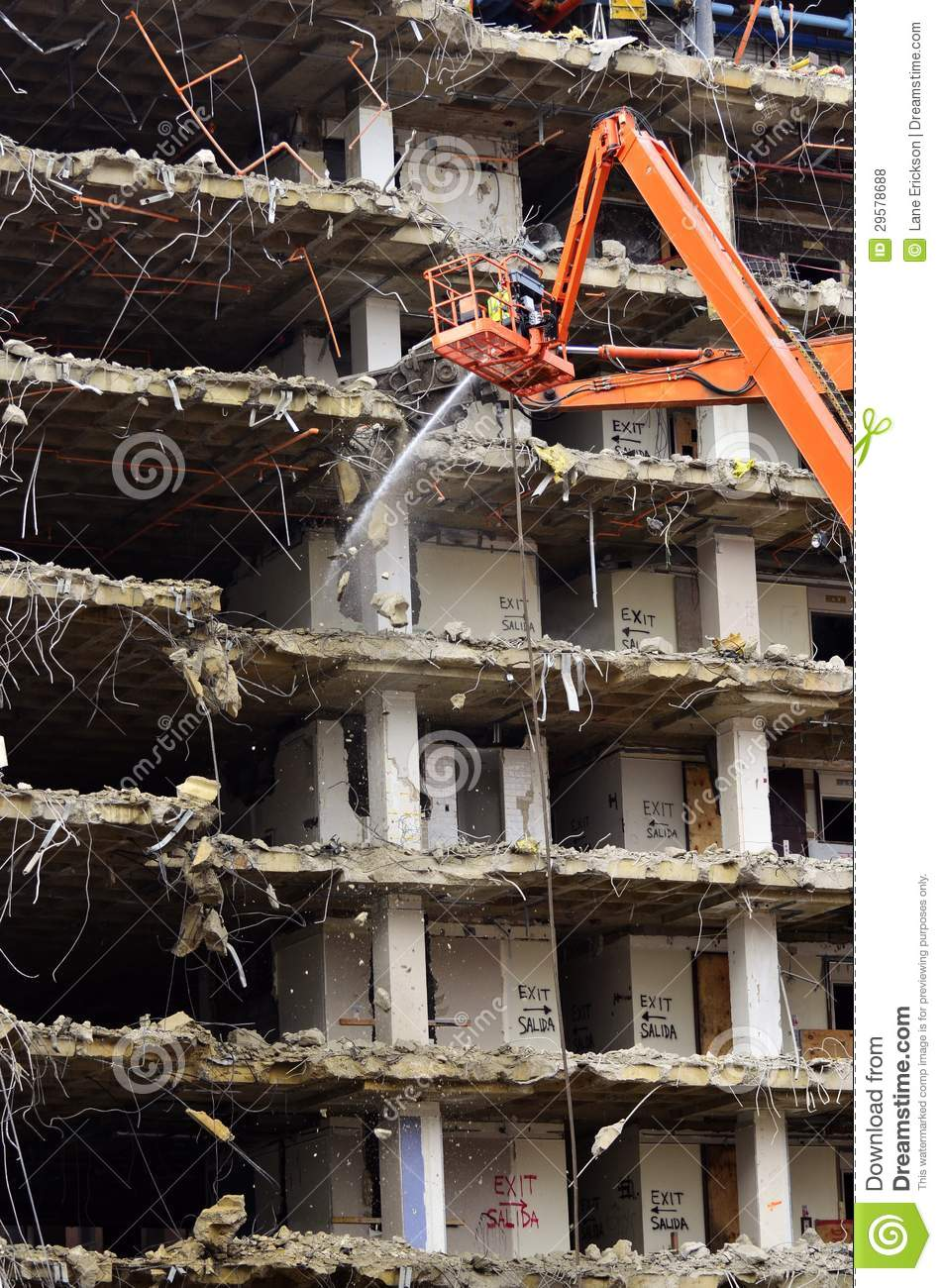 Building Falling Down : Building collapsing or falling down royalty free stock