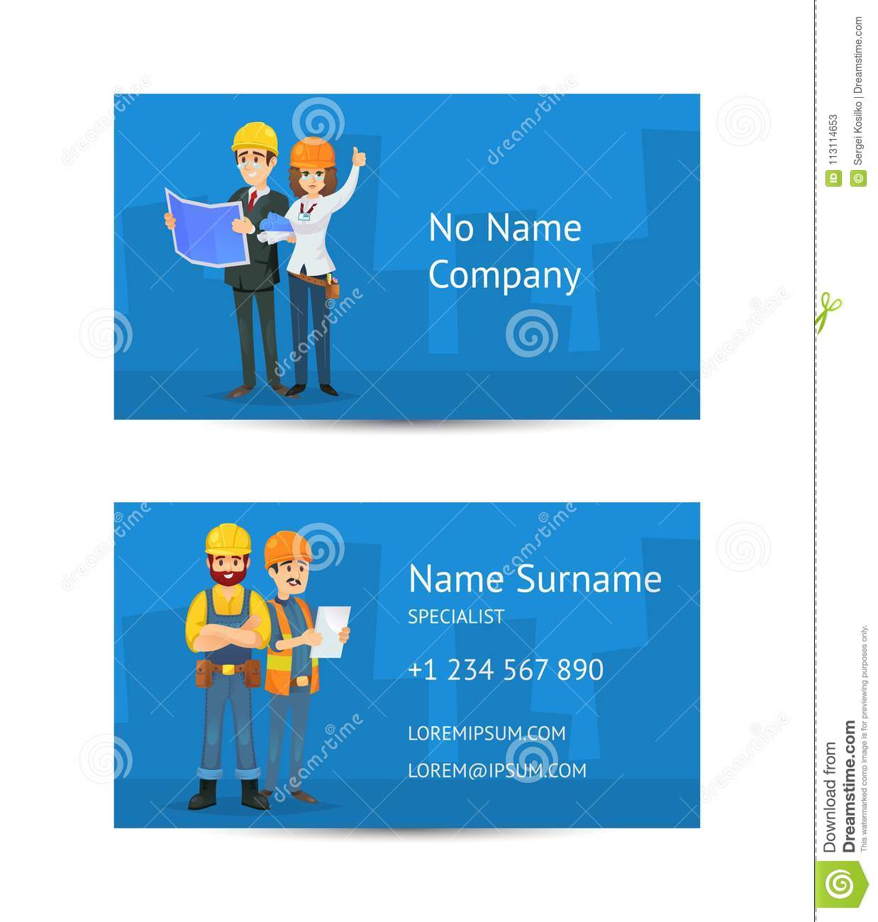 Building company business card layout stock vector illustration of download comp reheart