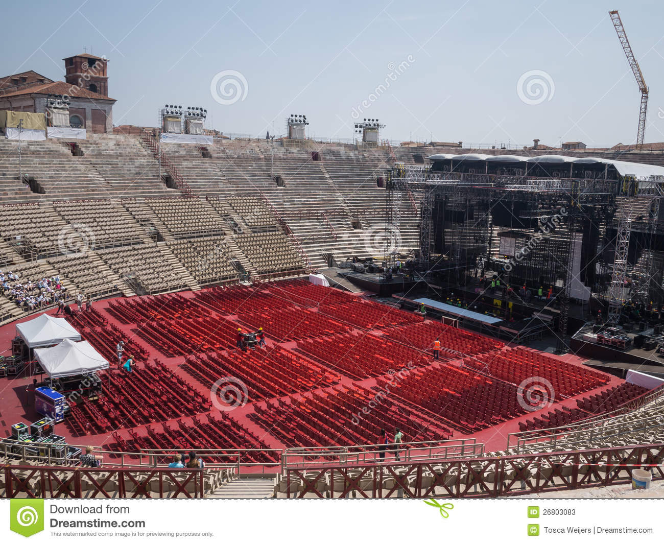 Building A Concert Stage Editorial Stock Photo Image Of