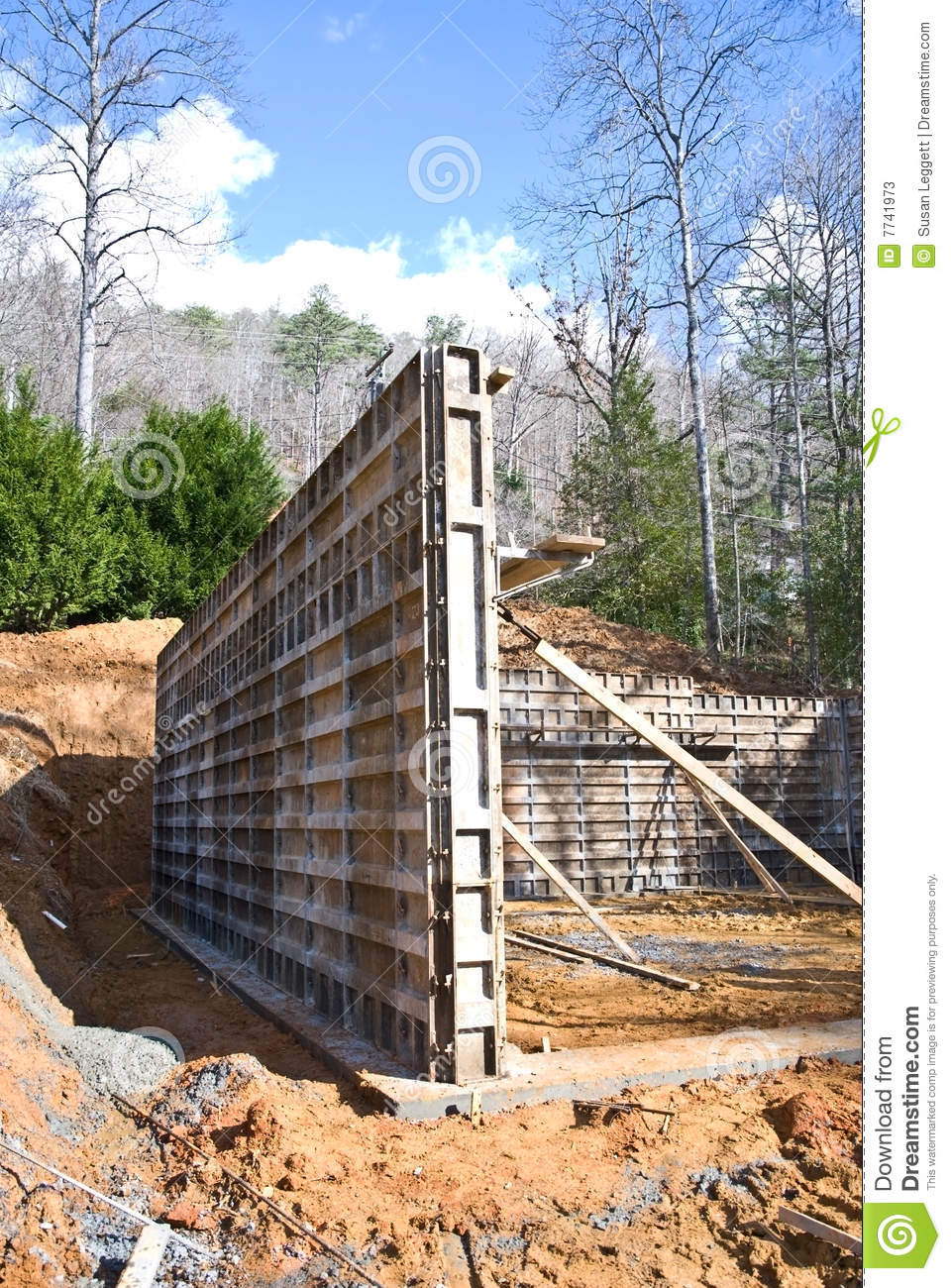 Building Concrete Foundation Stock Image Image 7741973