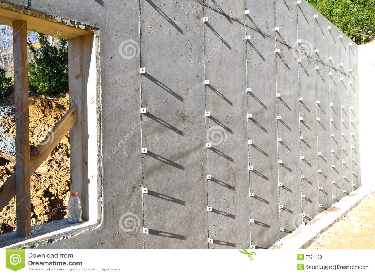 Building Concrete Foundation Stock Photos Image 7771183