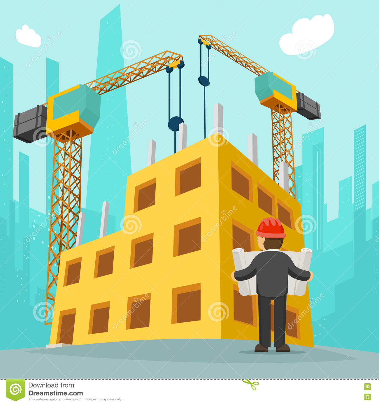 building and construction Easier - building and construction is the art, the work, job, or business of combining, forming, or putting together materials to make a structure.