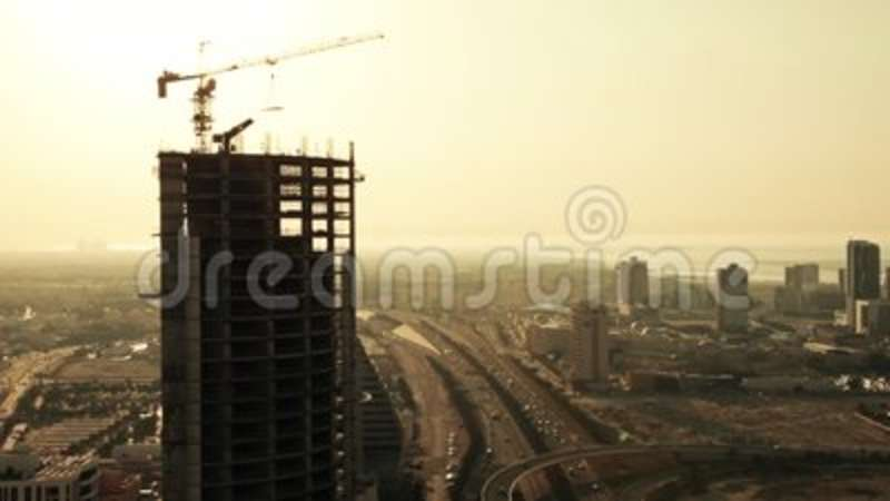 Building in construction with City on the Background  Bahrain