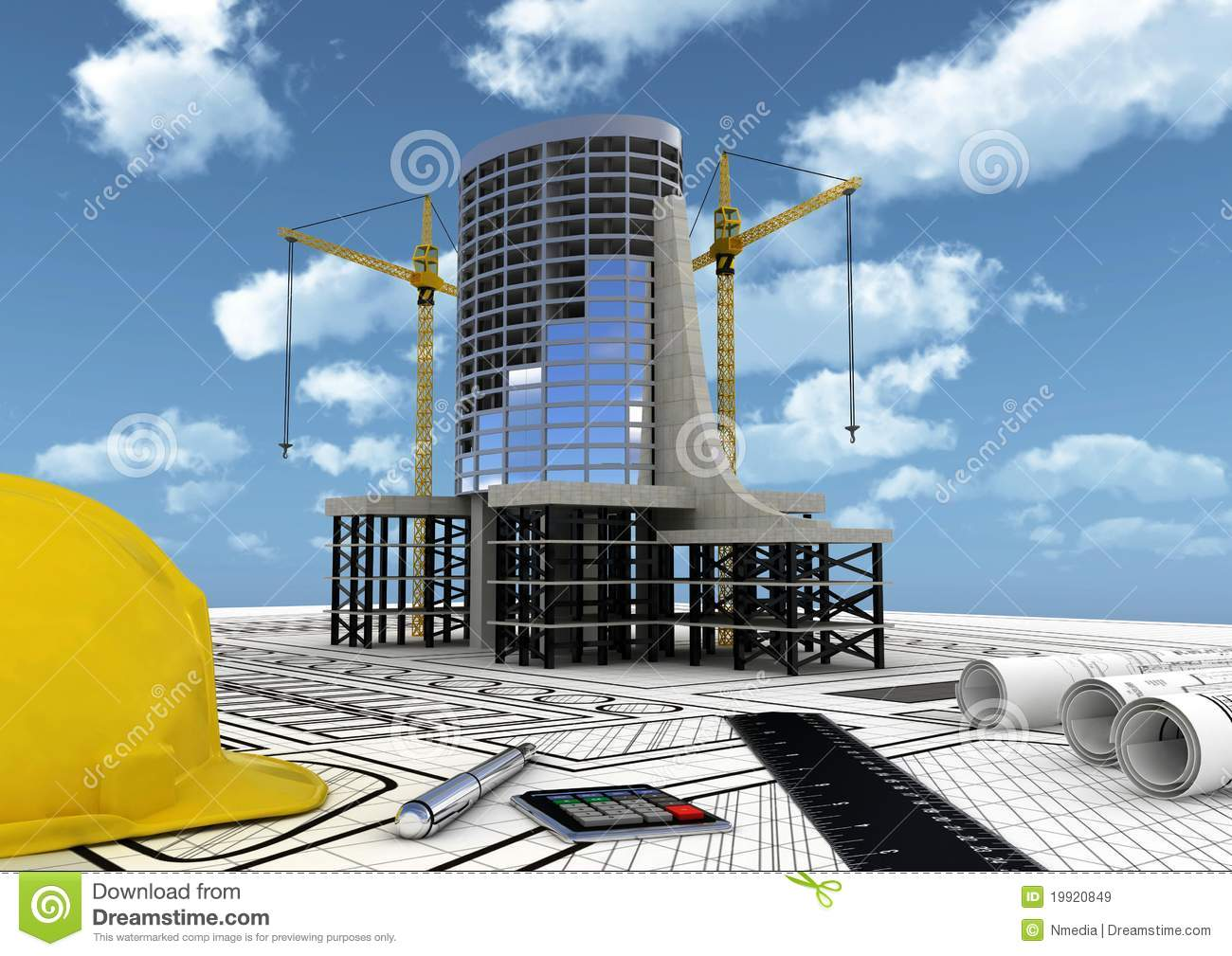 Building construction concept royalty free stock images for Building construction