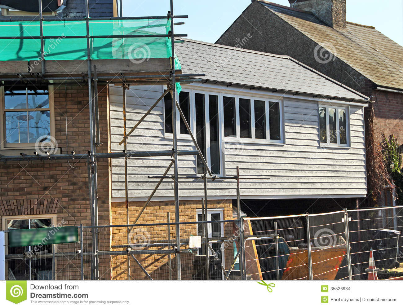 Building construction homes stock images image 35526984 for Process of building a new house