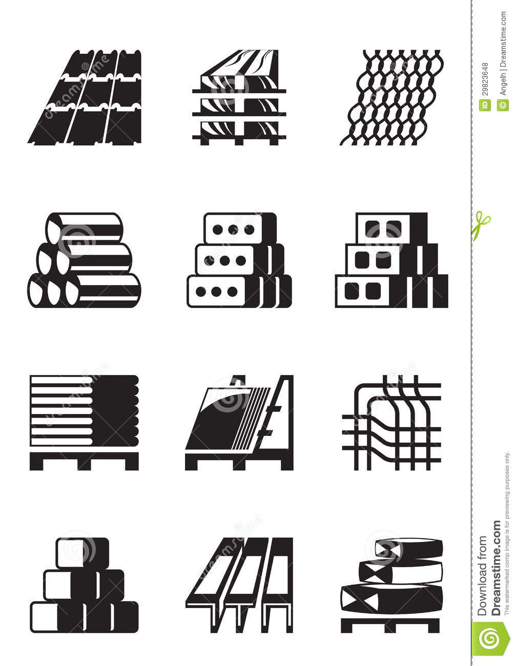 Building and construction materials stock vector image for Waste material images